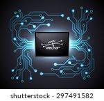 trendy microchip  | Shutterstock .eps vector #297491582