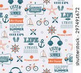 summer calligraphic designs.... | Shutterstock . vector #297491672