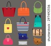 vector various types of woman... | Shutterstock .eps vector #297492536