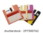 Stack Of Floppy Disk In Variou...