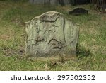 half buried ancient weathered... | Shutterstock . vector #297502352