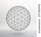 scope of lines and dots. ball... | Shutterstock .eps vector #297503492