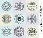 luxury assorted insignias retro ... | Shutterstock .eps vector #297513692