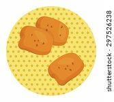 fried foods theme chicken... | Shutterstock .eps vector #297526238