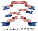 set of usa insignia in... | Shutterstock .eps vector #297532532