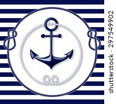 blue anchor emblem with circle... | Shutterstock .eps vector #297549902