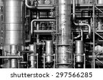 close up of pipelines and... | Shutterstock . vector #297566285