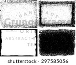 grunge frame texture set  ... | Shutterstock .eps vector #297585056
