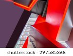 painted in red. abstract... | Shutterstock . vector #297585368