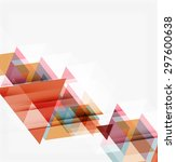abstract geometric background.... | Shutterstock .eps vector #297600638