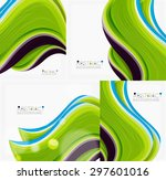 abstract realistic solid wave... | Shutterstock . vector #297601016