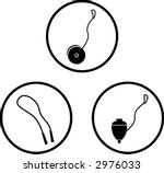 classic toys and games symbols | Shutterstock .eps vector #2976033