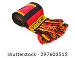 German Scarf In Red Black Gold...