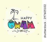 beautiful greeting card design... | Shutterstock .eps vector #297605102