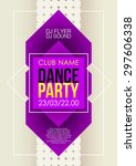 vertical music party background ... | Shutterstock .eps vector #297606338