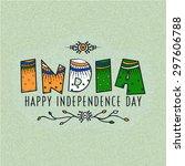 elegant greeting card design... | Shutterstock .eps vector #297606788