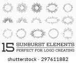 sunburst on starburst element... | Shutterstock .eps vector #297611882