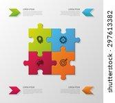 puzzle piece. modern... | Shutterstock .eps vector #297613382