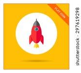 rocket icon | Shutterstock .eps vector #297619298