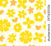 Simple Flowers Seamless Patter...