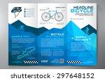 brochure leaflet design tri... | Shutterstock .eps vector #297648152