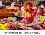 damnoen saduak  thailand   aug... | Shutterstock . vector #297649052