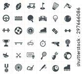 sport icons set design. | Shutterstock .eps vector #297666086