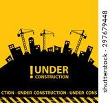under construction background... | Shutterstock .eps vector #297679448