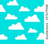 background pattern clouds | Shutterstock .eps vector #297679508