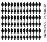 women stick icon set | Shutterstock .eps vector #297683852