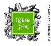 eco natural food menu... | Shutterstock .eps vector #297689522