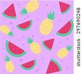 background pattern fruit...   Shutterstock .eps vector #297690248