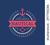 sailing sea ocean navy nautical ... | Shutterstock .eps vector #297700286