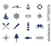 set of nautical sea ocean...