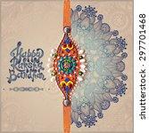 original handmade rakhi on... | Shutterstock .eps vector #297701468
