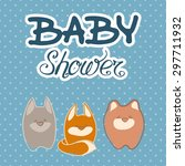 baby shower invitation card... | Shutterstock .eps vector #297711932
