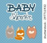baby shower invitation card... | Shutterstock .eps vector #297711932
