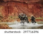 army rangers in action in the... | Shutterstock . vector #297716396