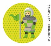 knight theme elements | Shutterstock .eps vector #297718412