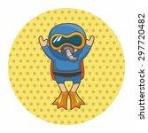 diver theme elements | Shutterstock .eps vector #297720482
