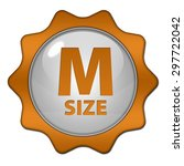 m size circular icon on white... | Shutterstock . vector #297722042
