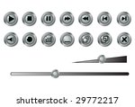 buttons for a player. a vector. ... | Shutterstock .eps vector #29772217
