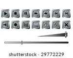 buttons for a player. a vector. ... | Shutterstock .eps vector #29772229