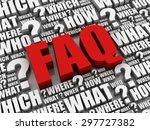 faq | Shutterstock . vector #297727382