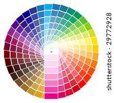 vector illustration of pantone