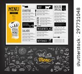 restaurant cafe menu  template... | Shutterstock .eps vector #297731048