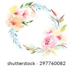 watercolor greeting card... | Shutterstock .eps vector #297760082
