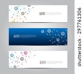 vector design banner network... | Shutterstock .eps vector #297761306