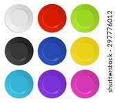 set of colored plates isolated... | Shutterstock .eps vector #297776012