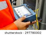 fiber optic cable testing    Shutterstock . vector #297780302